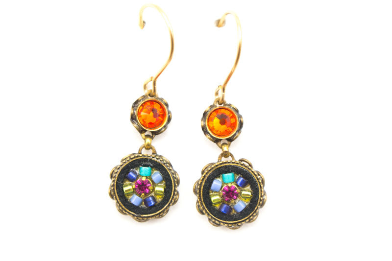 Multi Color Gold La Dolce Vita 2-Tier Earring by Firefly Jewelry