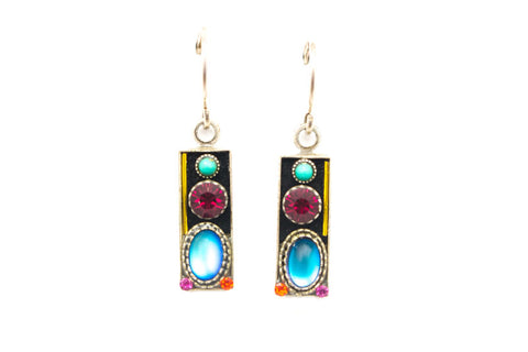 Multi Color Simple Shadowbox Earrings by Firefly Jewelry