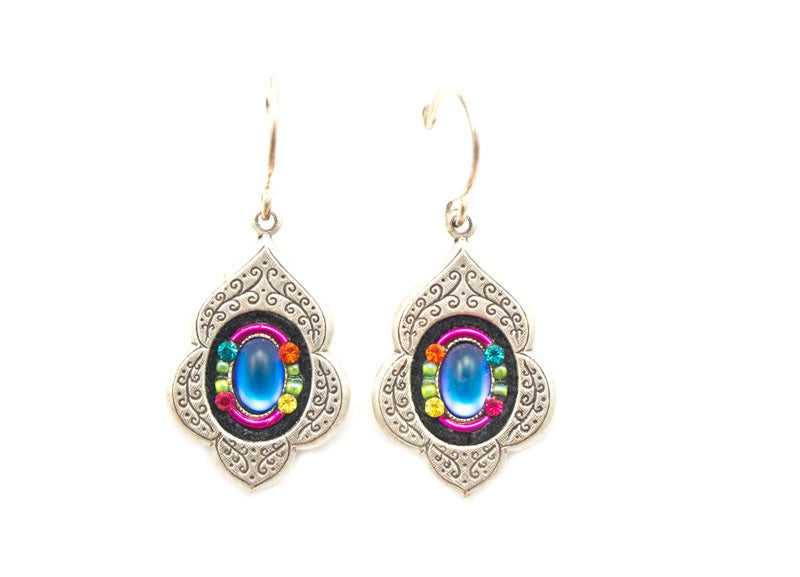 Multi Color Arabesque Earrings by Firefly Jewelry