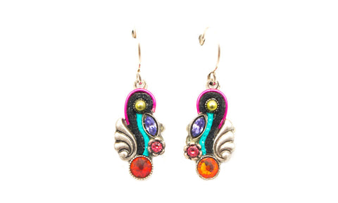 Multi Color Small Organic Earrings by Firefly Jewelry