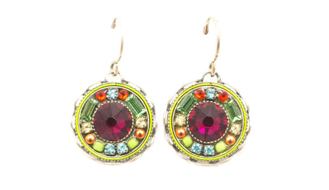 Ruby Vintage Round Earrings by Firefly Jewelry