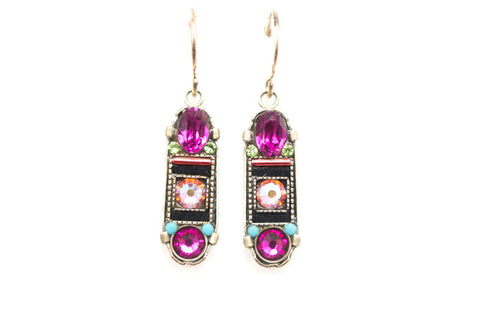 Padparadscha La Dolce Vita Oval Mosaic Earrings by Firefly Jewelry