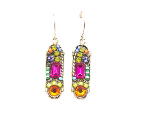 Multi Color La Dolce Vita Oval with Hope and Dream Earrings by Firefly Jewelry