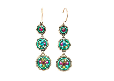 Indicolite La Dolce Vita 3-Tier Earrings by Firefly Jewelry