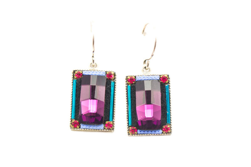 Amethyst Emerald City Earrings by Firefly Jewelry