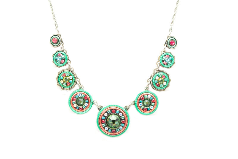 Erinite La Dolce Vita Circles Necklace by Firefly Jewelry