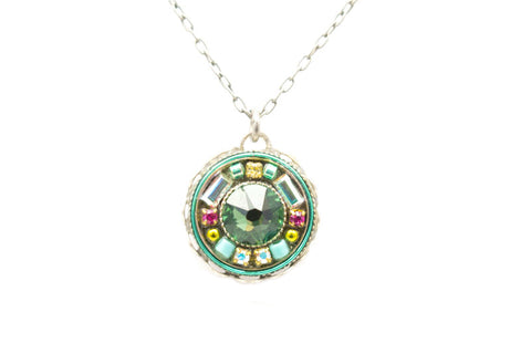 Erinite Vintage Round Pendant by Firefly Jewelry
