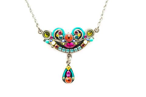 Multi Color Petite Organic Necklace by Firefly Jewelry