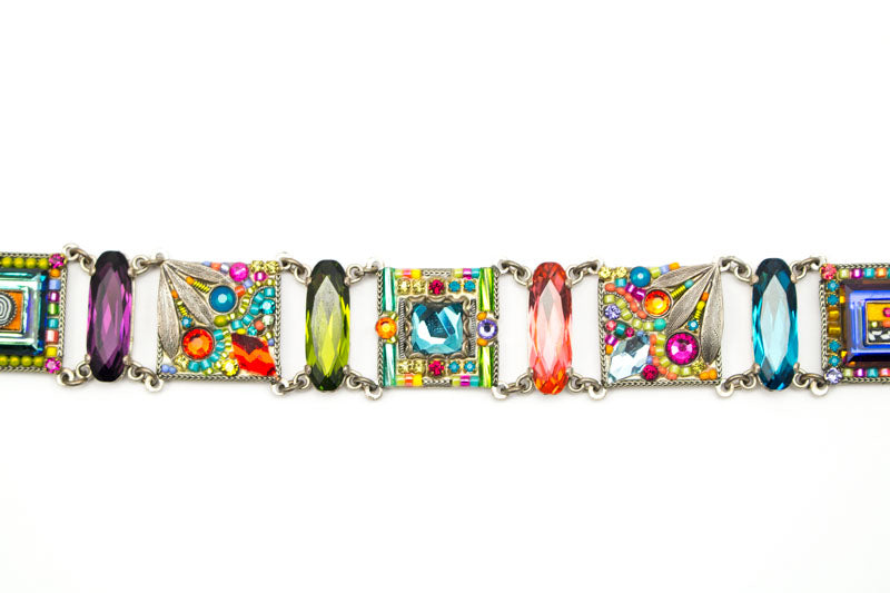Multi Color Signature Collection Inset Bracelet by Firefly Jewelry
