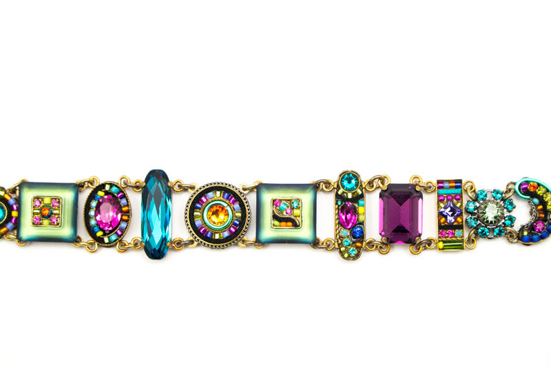 Multi Color La Dolce Vita GoldBracelet by Firefly Jewelry