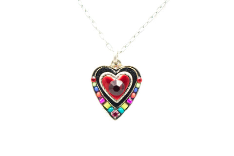 Multi Color Heart Pendant by Firefly Jewelry