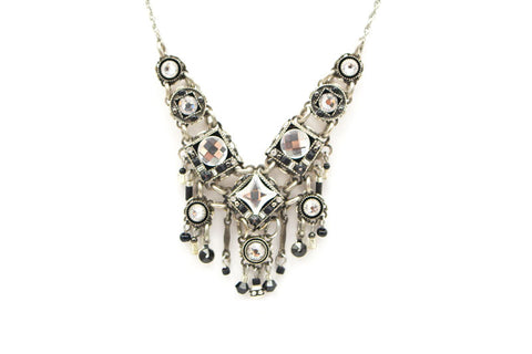 Black and White Medium Bright Necklace by Firefly Jewelry