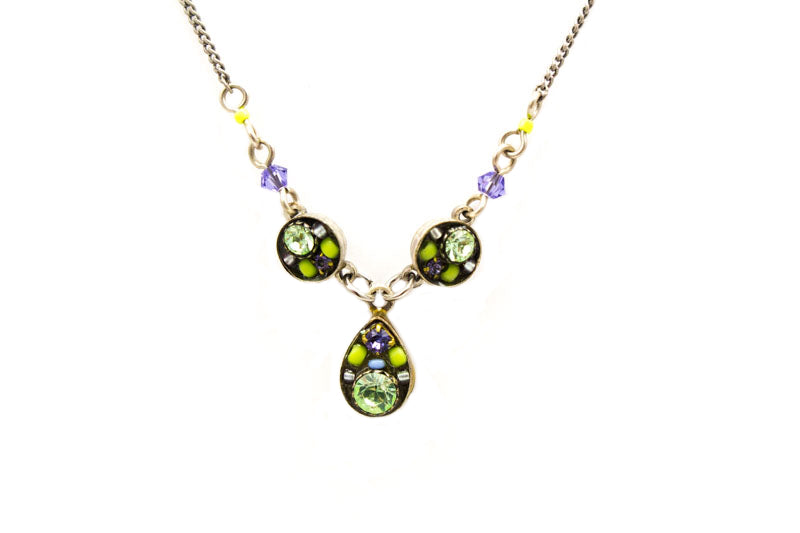 Chrysolite Sparkling Drop Necklace by Firefly Jewelry