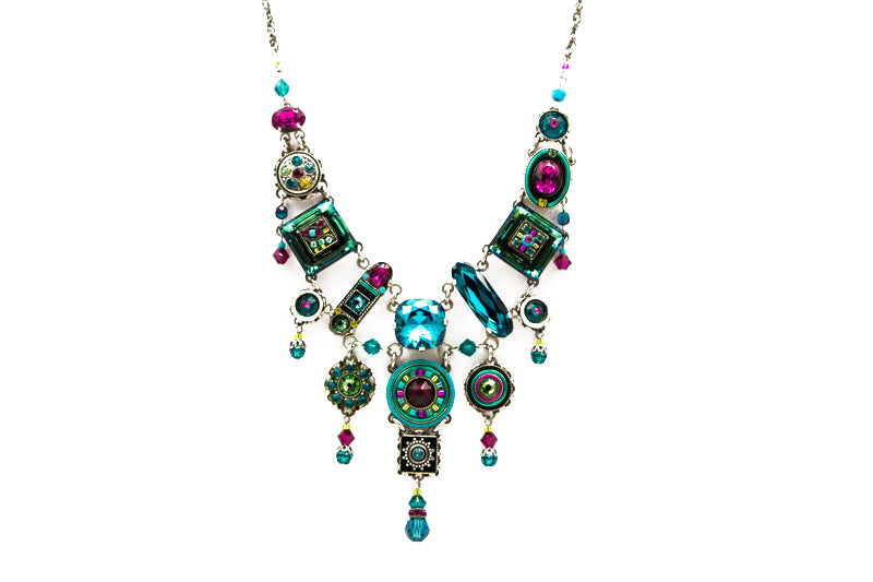 Indicolite La Dolce Vita Elaborate Necklace by Firefly Jewelry