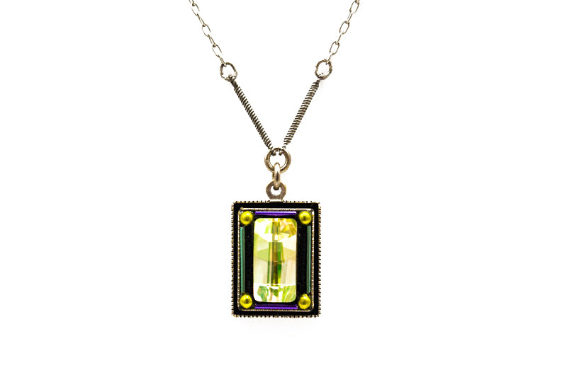 Lemon Emerald City Necklace by Firefly Jewelry