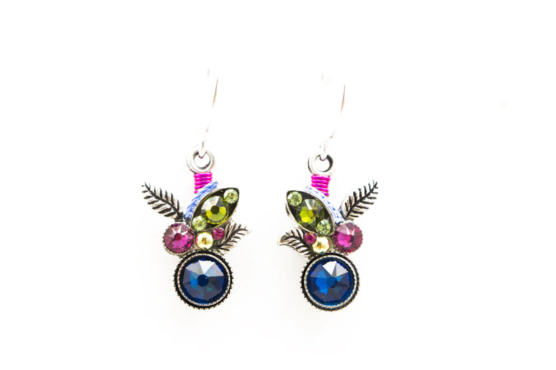 Bermuda Blue Botanic Earrings by Firefly Jewelry