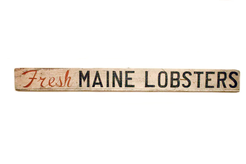 Fresh Maine Lobsters, Long Rectangle Americana Art