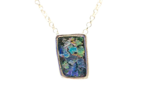 Dainty Square Roman Glass Necklace