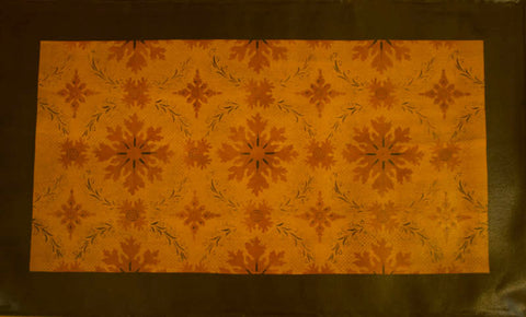 Humphries House with Border in Antique Floorcloth