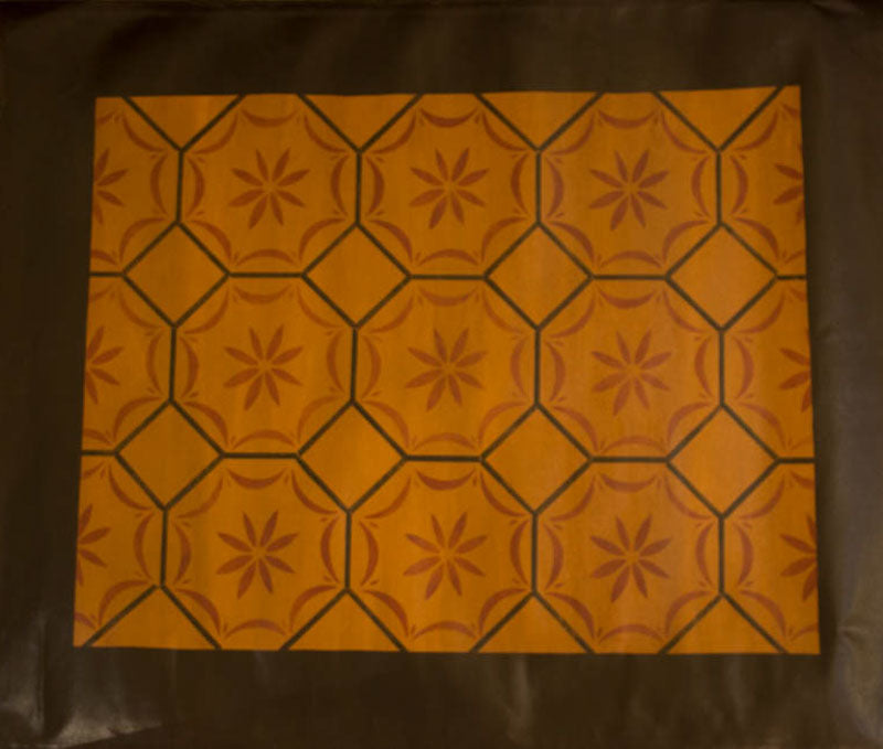 Medfield, MA Floorcloth with Border in Antique