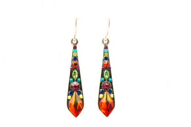 Multi Color Gazelle Medium Drop Earrings by Firefly Jewelry