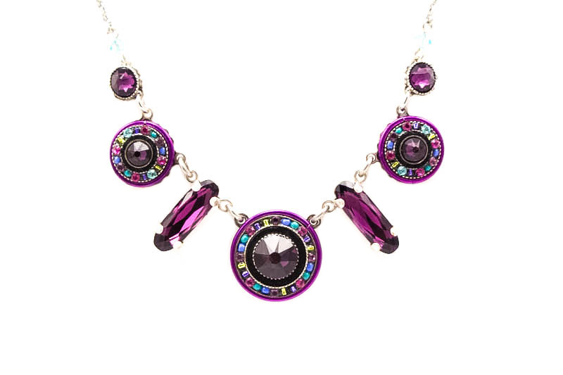 Amethyst La Dolce Vita Circles Necklace by Firefly Jewelry