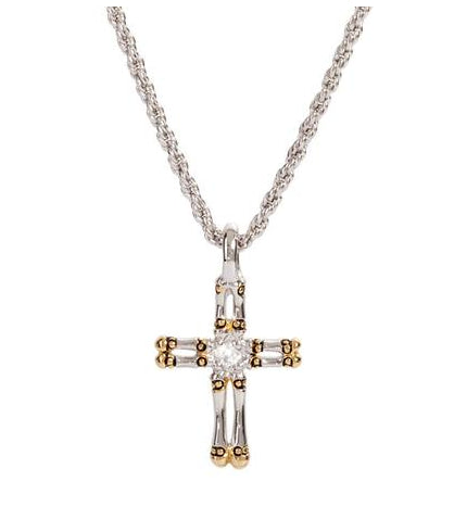 Canias Collection Double Row Cross Necklace by John Medeiros - Available in Multiple Lengths