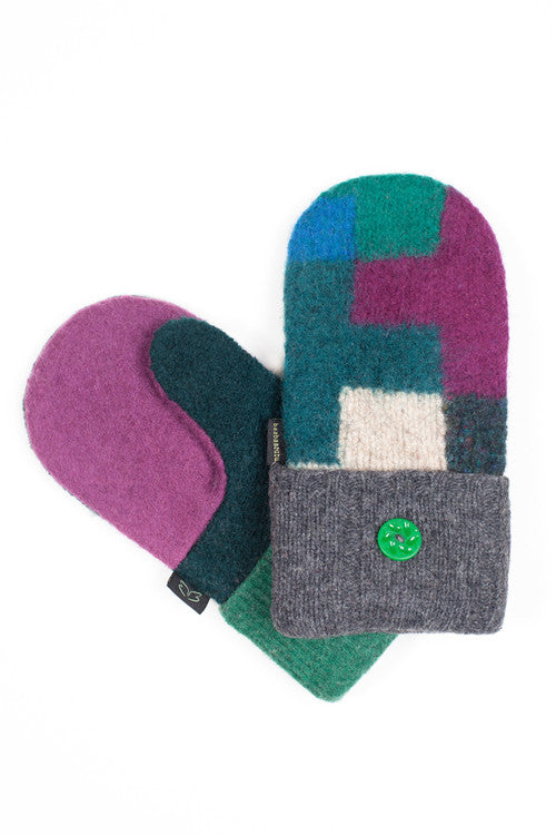 Wool Mittens in Jewel