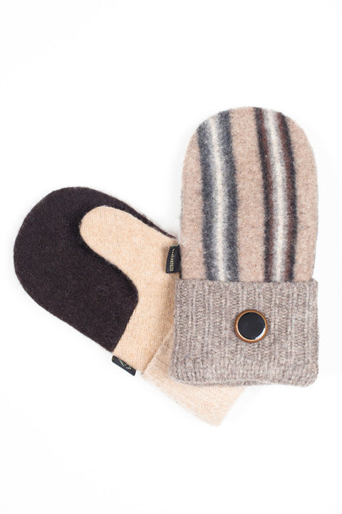 Wool Mittens in Neutral