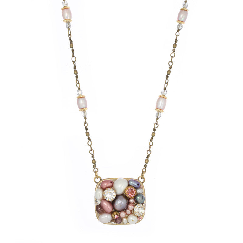 Constellation Medium Square Bead Chain Necklace by Michal Golan