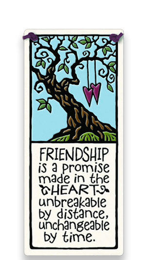 Friendship Promise Made Ceramic Tile