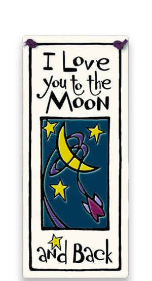 To The Moon And Back Ceramic Tile