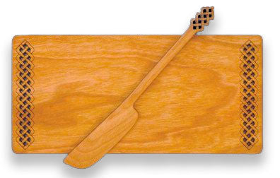 Butter Board with Spreader with Celtic Design