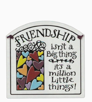 Friendship Small Arch Ceramic Tile