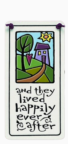 Happily Ever After Charmer Ceramic Tile