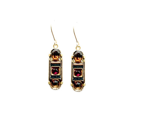 Smokey Topaz La Dolce Vita Oval Mosaic Earrings by Firefly Jewelry