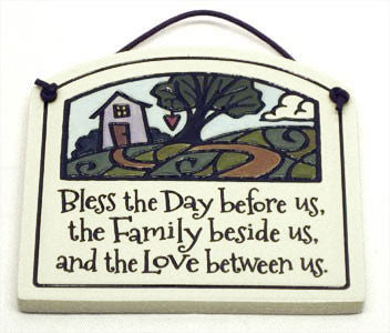 Bless The Day Small Arch Ceramic Tile