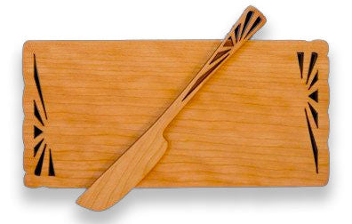 Butter Board with Spreader with Sunbeam Design