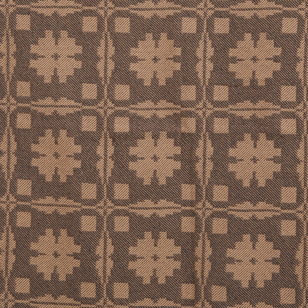 Fancy Snowballs Table Square in Brown with Tan