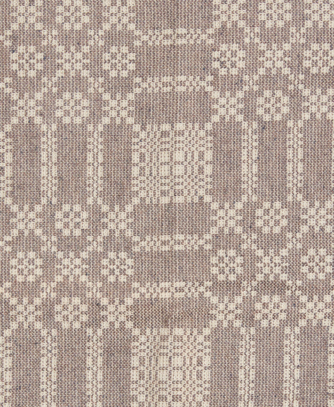 Summer Rose/Winter Fell Short Table Runner in Brown with Wheat