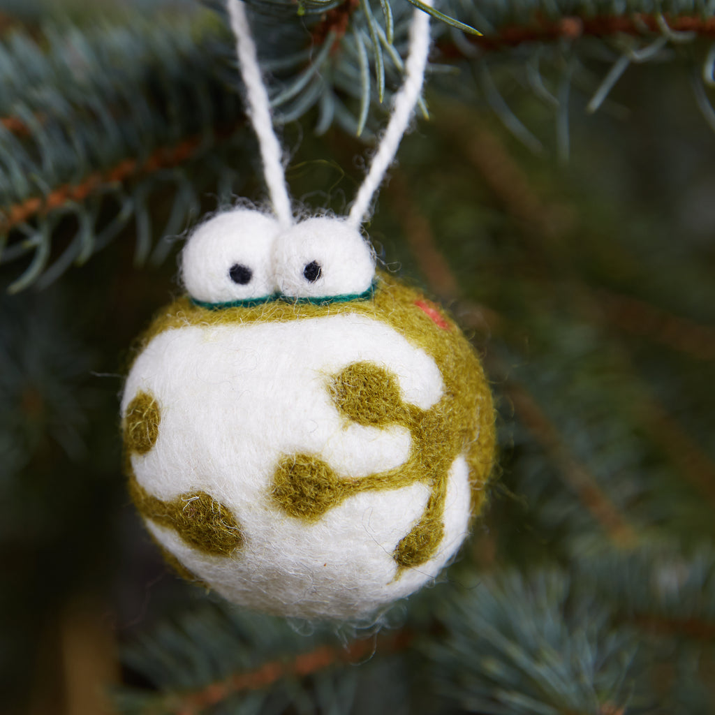 Frog Woolie Ornament