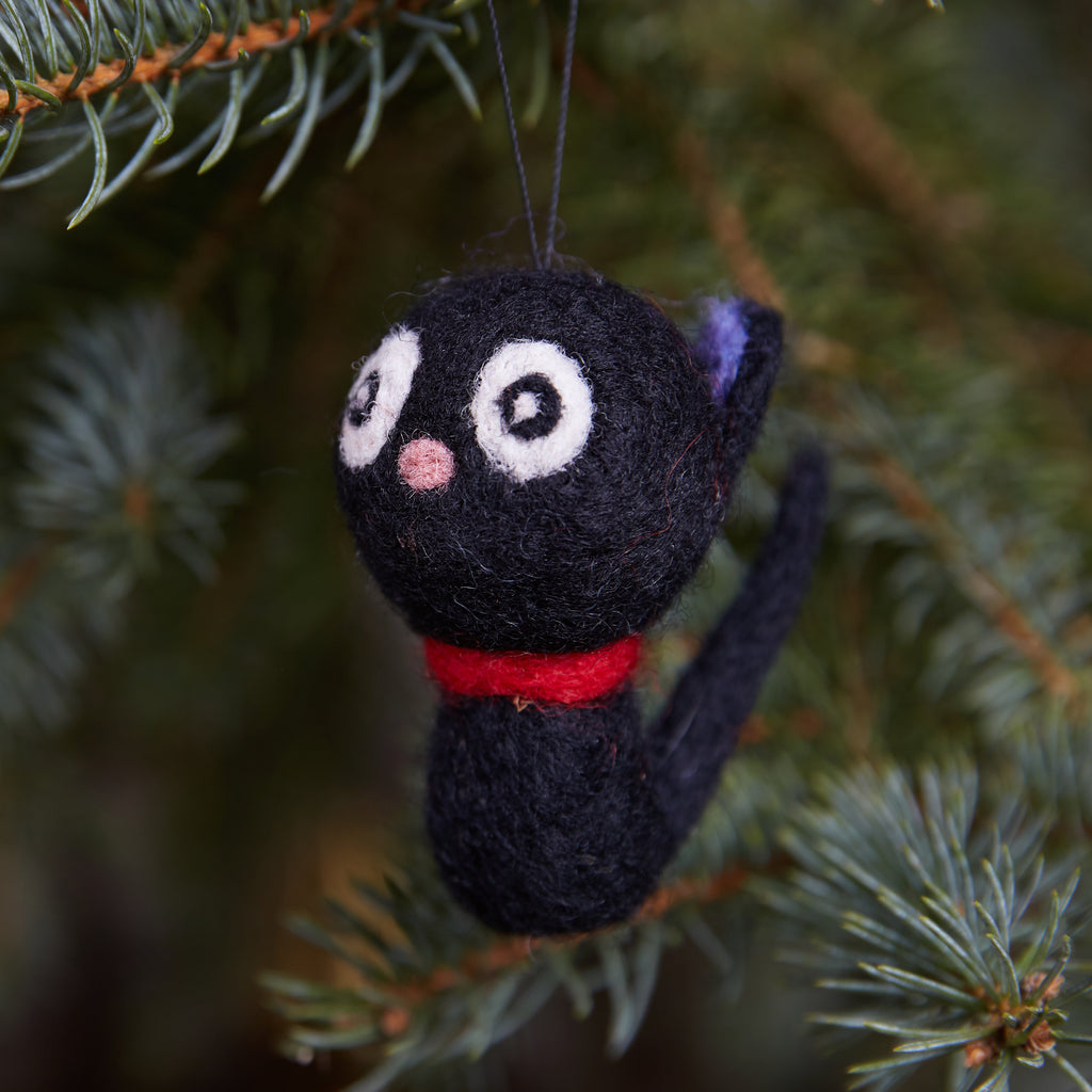 Black Cat Woolie Ornament