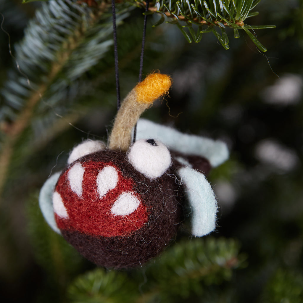 Crazy Fish Woolie Ornament