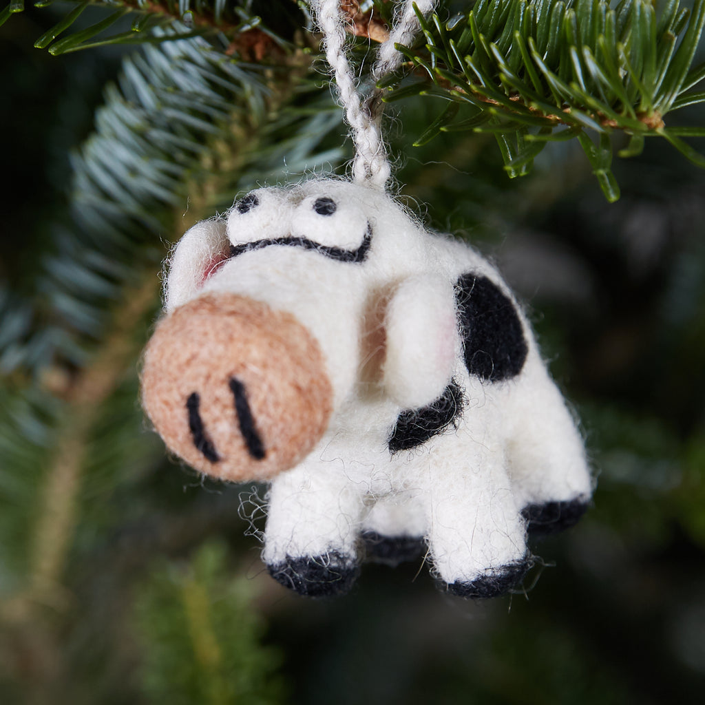 Cow Woolie Ornament