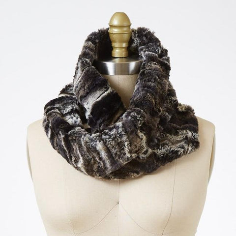 Agate in Black Luxury Faux Fur Neck Warmer