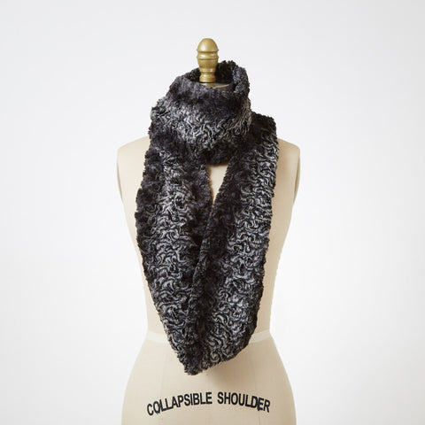 Smoky Essence Luxury Faux Fur Infinity Scarf