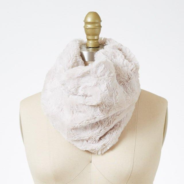 Cuddly in Sand Luxury Faux Fur Neck Warmer