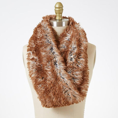 Red Fox Luxury Faux Fur Infinity Scarf
