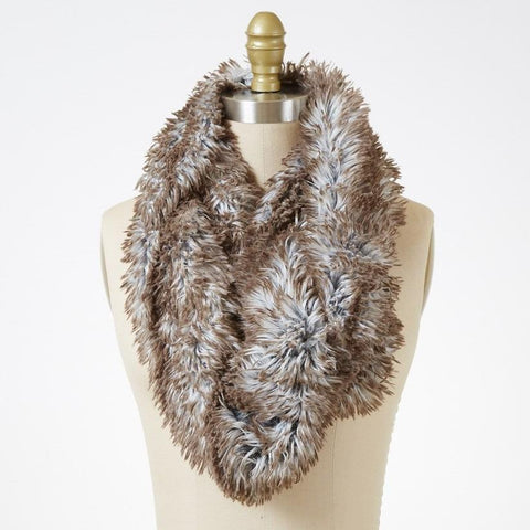 Arctic Fox Luxury Faux Fur Infinity Scarf