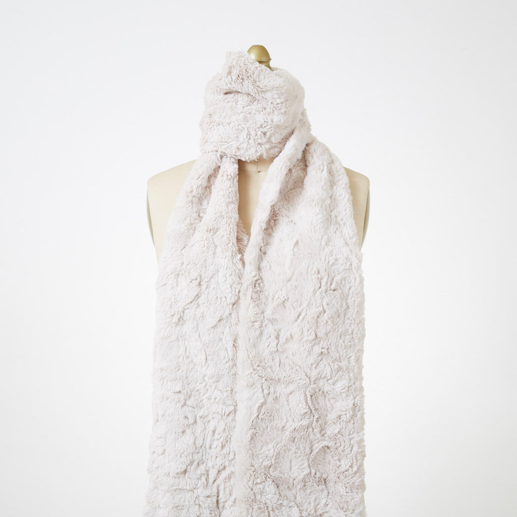 Cuddly Sand Luxury Faux Fur Scarf